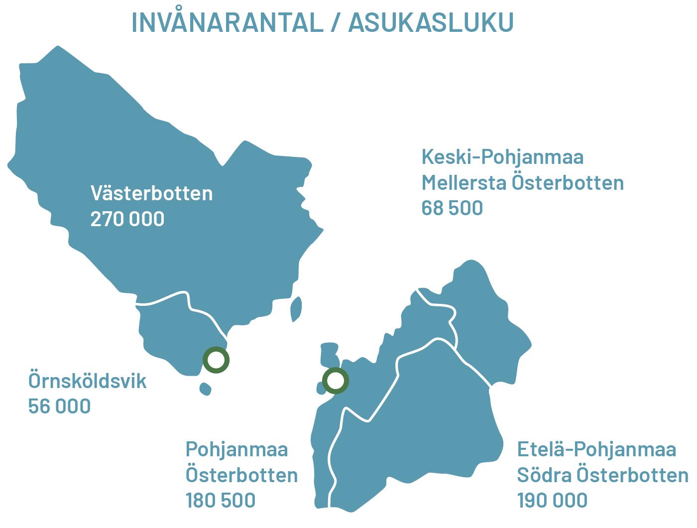 kvarkenregionens invånarantal